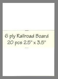 6 ply white Railroad Board precut blank art cards