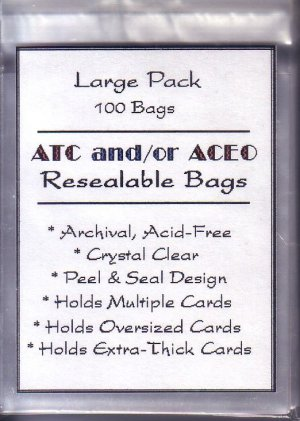 100 Resealable clear bags