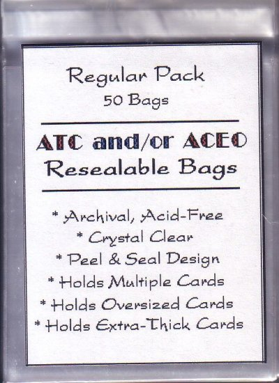 50 Resealable clear bags