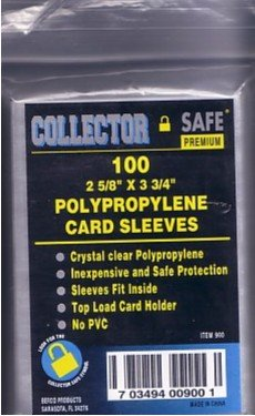 Polypropylene 'Penny' Card Sleeves soft clear