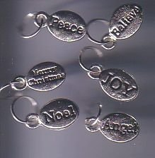 6 different Nugget Word Charms
