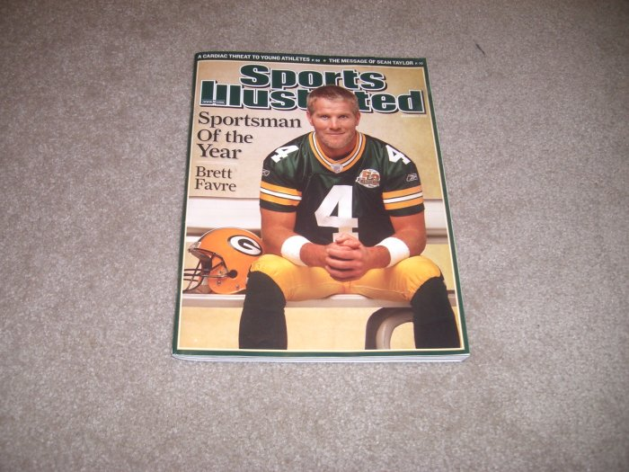 Brett Favre Sports Illustrated SI Sportsman Of Year 2007 NFL Football Packers
