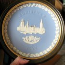 Wedgwood Christmas Plate 1974 FRAMED, The Houses of Parliament