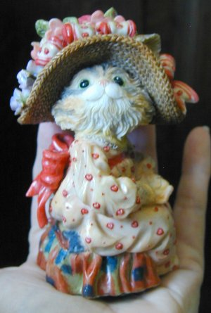 Thickets of Sweetbriar Merry Heart Cat with Little Red Hearts