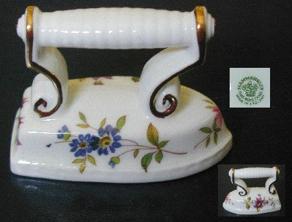Hammersley Bone China Miniature Iron, MINT