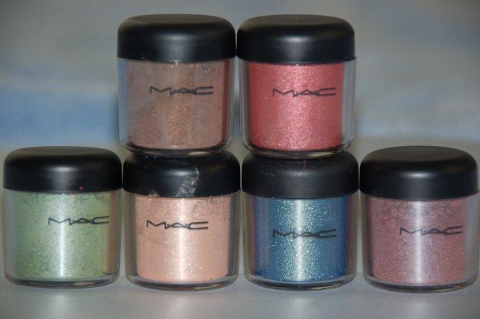 """MAC Pigment Samples """"Colour Forms"""" 6 colors"""