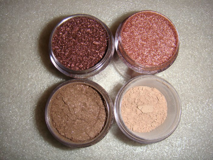 "MAC 4 Pigment Sets!! ""Oh So Natural!""  Neutral/Browns"
