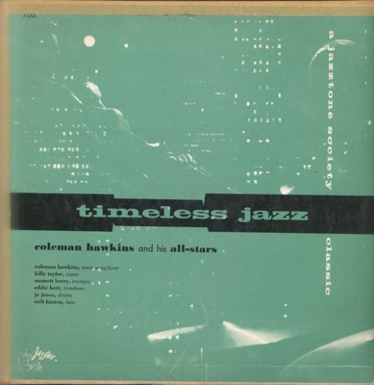 Coleman Hawkins and his Allstars  Timeless Jazz 1955 Mono Rare Vintage Vinyl