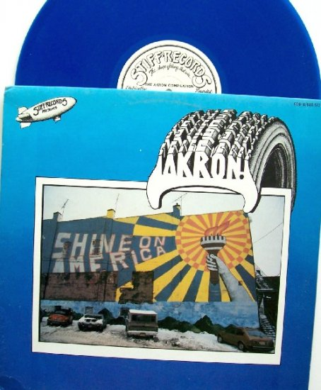 AKRON Shine on America Stiff Get3  Record  Rachel Sweet -Belvederes Rare Blue Vintage Vinyl