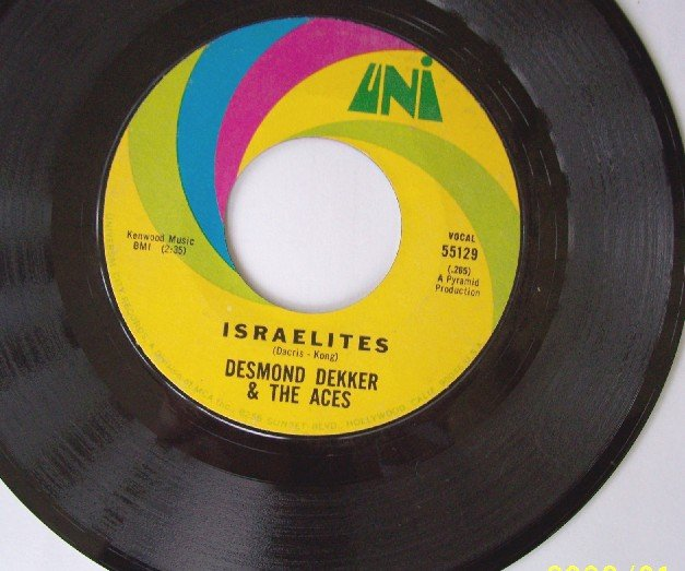 DESMOND DEKKER and the ACES  Isrealites 45 rpm Rare Vintage Vinyl  Reggae