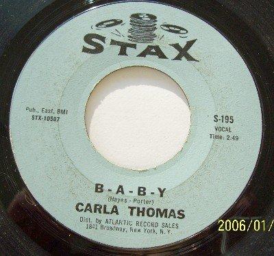 Carla Thomas B-a-b-y 45 rpm Vintage Vinyl Stax label Rare Soul