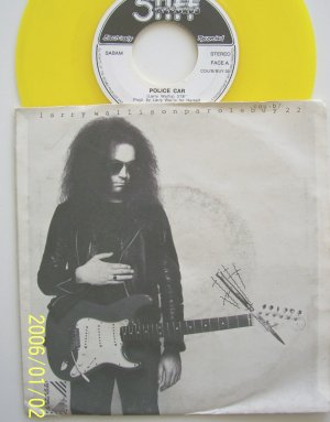 Larry Wallace of Motorheads Police Car On Parole 45rpm Yellow vinyl with sleeve RARE
