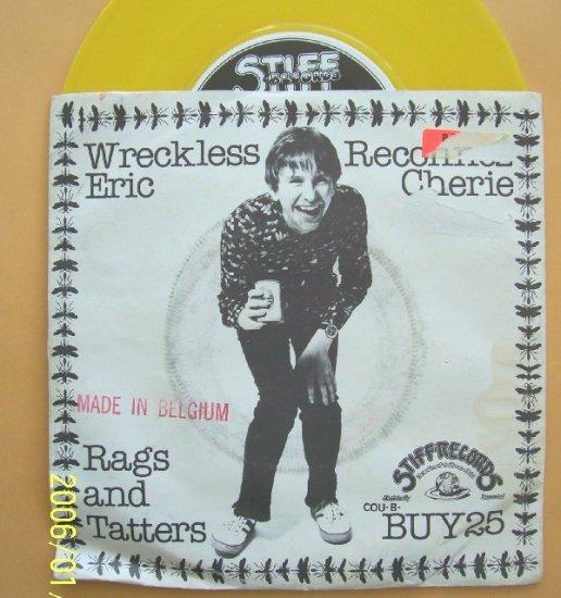 Wreckless Eric  Reconnez Cherie Punk 45rpm Vinyl record Stiff Buy 25 w sleeve