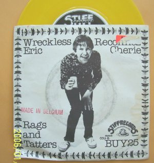 Wreckless Eric  Reconnez Cherie Punk 45rpm Vinyl record Stiff Buy 25 w sleeve
