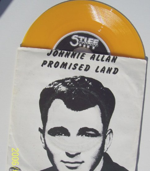 JOHNNIE ALLAN Promised Land 45rpm with sleeve Yellow Vinyl  Rare