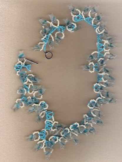 65 Glass Fish Bead Necklace 18 inch Handcrafted