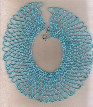 Turquiose Seed Bead Net 14 1/2 inch Choker