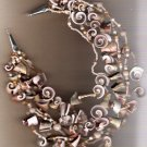 Curled Shell Multistrand Handcrafted 18 inch Necklace