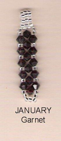 Swarvoski Crystal Pendant- Birthstone - January