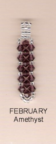 Swarvoski Crystal Birthsone Pendant - February