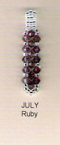 Swarvoski Crystal Birthstone Pendant - July