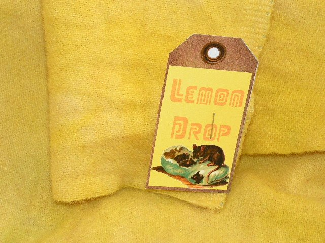 LEMON DROP - Hand Dyed Rug Hooking Wool - Shorn Sheep Prims - Qu. Yard - Ships Free US - Cut Free