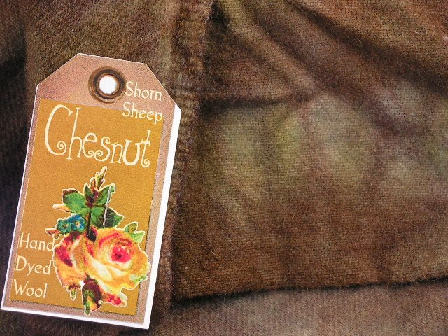 CHESTNUT BROWN - Hand Dyed Rug Hooking Wool w/Lanolin - Shorn Sheep Prims - Free US ship