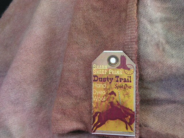 DUSTY TRAIL - Hand Dyed Rug Hooking Wool w/ Lanolin - Shorn Sheep Prims - FREE US SHIP