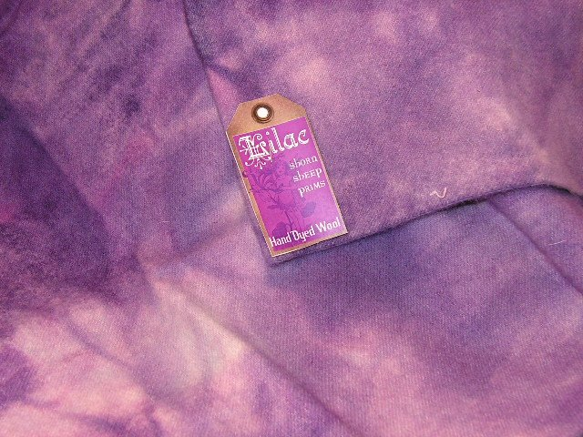 LILAC - Hand Dyed Lanolin Wool - Rug Hook, Quilt, Penny Rug - Shorn Sheep - Free US Ship