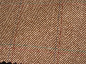 TWEED NO.3 - 100% wool fabric - Light Camel Tweed - off the bolt - 5 yards - Shorn Sheep Wools