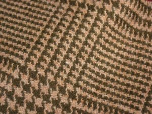 TWEED NO.7 - 100% wool fabric - OLIVE AND SAND Tweed - off the bolt - 5 yards - Shorn Sheep Wools