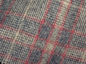 TWEED NO.10 - 100% wool fabric - LT GREY/BLUE Tweed - off the bolt - 5 yards - Shorn Sheep Wools