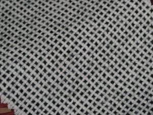 TWEED NO.15 - 100% wool fabric - BLACK/WHITE CHECK Tweed - 5 yards - Shorn Sheep Wools