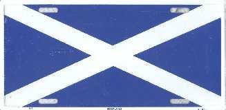 St Andrew's Cross License Plate