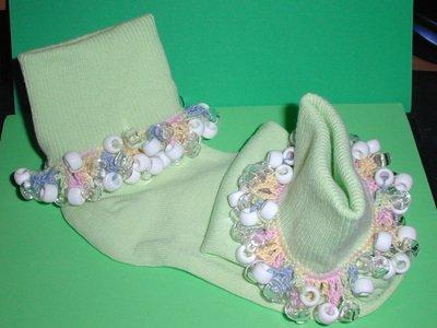 Girls Custom Beaded Crocheted Socks