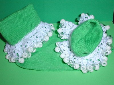 Girls Custom Beaded Crocheted Socks