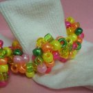 Citrus Girls Custom Beaded Crocheted Socks