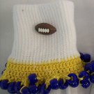 Yellow and Blue  Football Spirit Beaded Bobby Socks