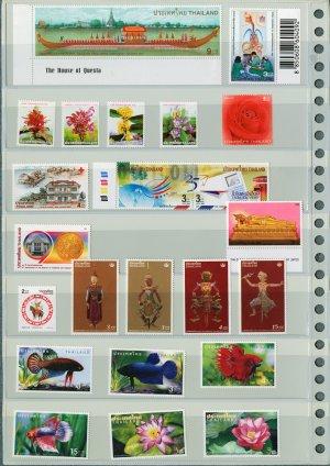 Thailand 12 Different MNH Complete Sets 2001-2002/22pcs