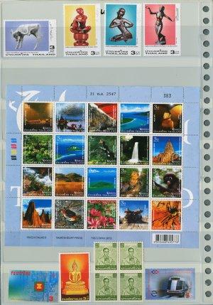 Thailand 6 Different MNH Complete Sets/UNSEEN THAILAND 2004 SHEET/31pcs