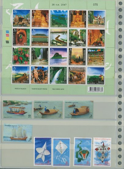 THAILAND-UNSEEN SHEET+2 Different MNH Complete Sets 2004-28pcs
