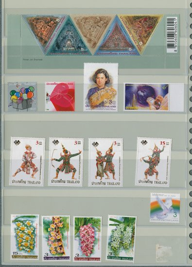 Thailand 7 Different MNH Complete Sets 2005/18pcs
