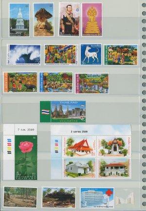 Thailand 10 Different MNH Complete Sets 2005, 2006/20pcs