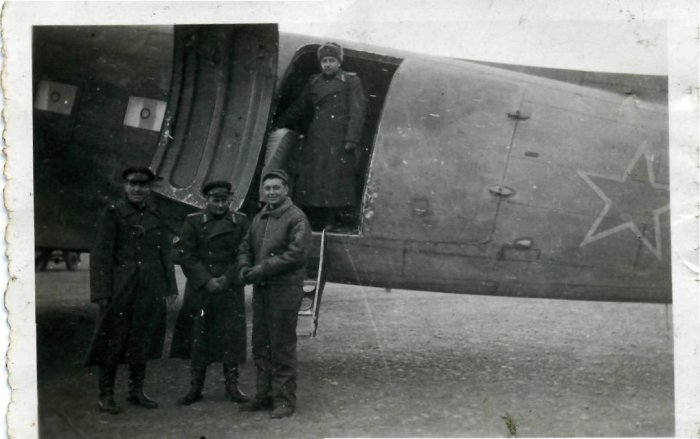Vintage World War II Historic Russian Plane and Crew Photos