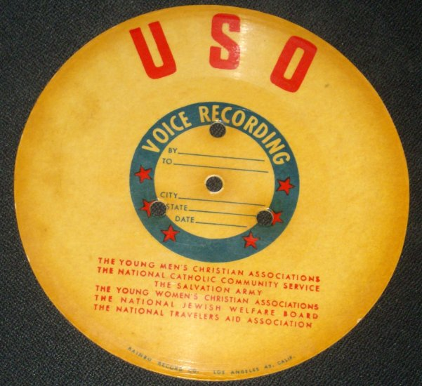 RARE Vintage WWII USO RAINBO RECORD LETTER HOME