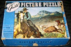 Retro Guild Western Horse Cowboy Picture Puzzle 1950's