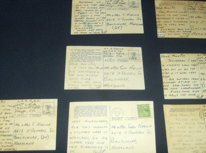 World War II Vintage Letters Post Cards Documents Lot