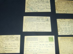 World War II Vintage Letters Post Cards Documents Lot