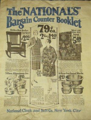 Rare COOL 1920's Vintage Flapper ART Clothing Catalog Brochure