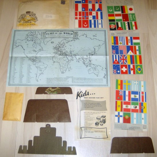 Vintage Shinola Flags Mail In Offer Kids Display 1950's